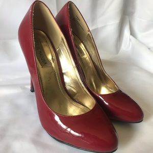 Steve Madden Red Patent Leather Pump Heels